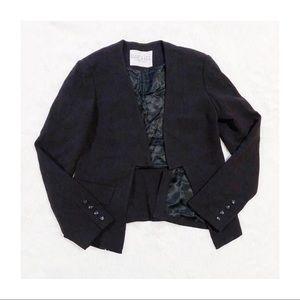 Rachel Roy Black Open Front Blazer Lined S/M